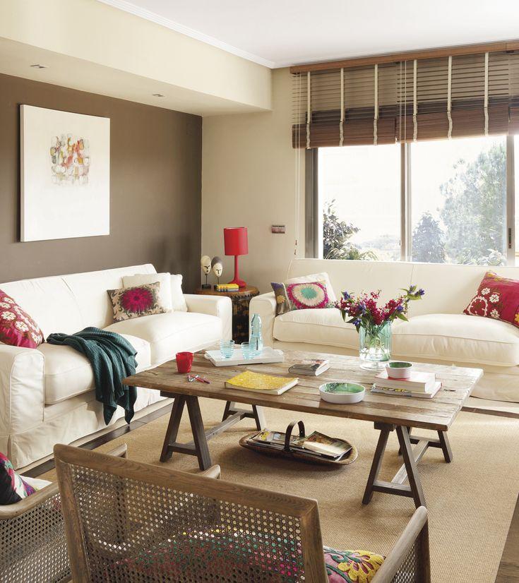 17 mejores ideas sobre decoraci n de muebles de color - Salones con sofa negro ...