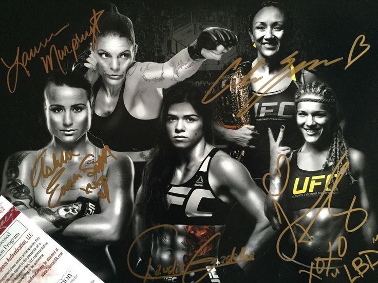Claudia Gadelha Felice Herrig Carla Esparza UFC Signed 11x14 MMA WMMA JSA CERT