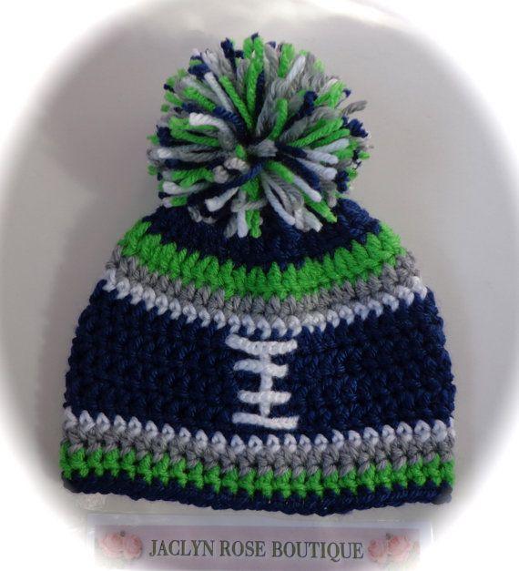 Crochet baby FOOTBALL hat Dallas Cowboys by JACLYNROSEBOUTIQUE, $12.75
