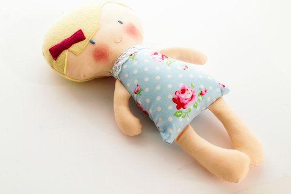 Rag doll baby first rag doll heirloom doll 12 inches by TinyKooka