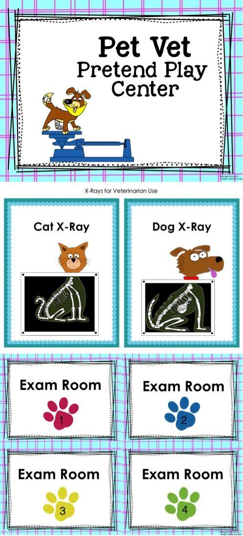 Pet Vet Signs Labels Examination Forms Patient Client