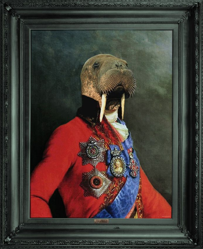 Mineheart - Eccentric British Design - 'Uncle Walter' - Ornate Framed Canvas Print, £183.00 (http://www.mineheart.com/uncle-walter-ornate-framed-canvas-print/)