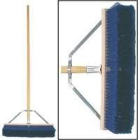 """18"""" COMBO CONTRACTOR BROOM (Pack of 4) by Birdwell Cleaning. $125.99. With brace & handle. 18"""". """"BIRDWELL"""" PUSH BROOMS. Combination bristles, 3""""L trim, center black polystyrene and border blue flagged solvent-resistant fibers. Push broom heavy duty. """"BIRDWELL"""" PUSH BROOMS  18"""" Push broom heavy duty With brace & handle Combination bristles, 3""""L trim, center black polystyrene and border blue flagged solvent-resistant fibers Heavy-duty steel brace with hardwood block Fully assem..."""