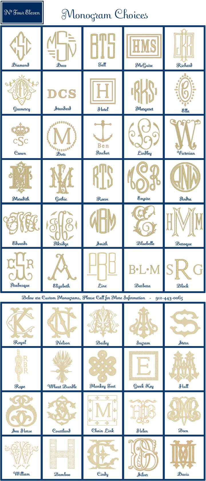 monograms galore