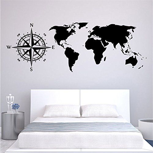 268 best Wallpaper Home Decal Sticker images on Pinterest Wall - best of world map for wall mural