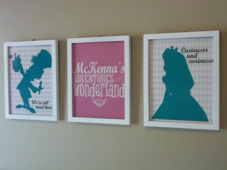 Homemade digital art in Baby McKenna's nursery.