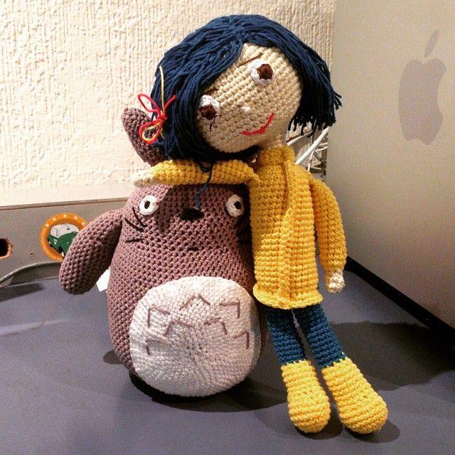 #coraline #totoro #amigurumi #crochet #ninjatejedor