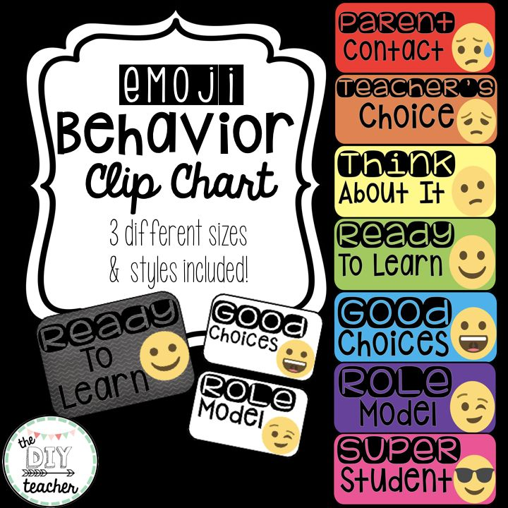 Behavior Clip Chart  Looking for a new behavior clip chart? Emoji are currently EVERYWHERE so I figured, why not include them in the classroom?