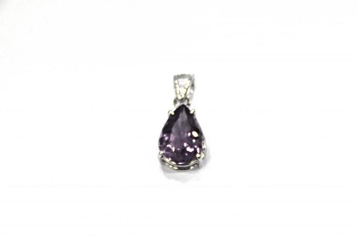 Amethyst Gemstone Pendant 11 Ct 925 Sterling Silver Womens Jewelry Purple Quartz #Handmade #Pendant