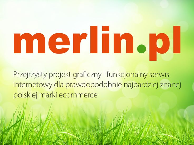 Merlin.pl. Przejrzysty projekt graficzny i funkcjonalny serwis internetowy. #migomedia