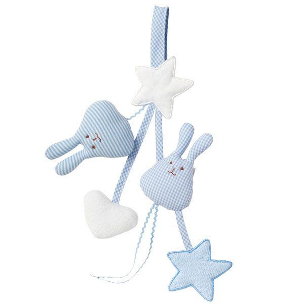 Achetez sur internet notre Hochet porte-tétine ange - bleu