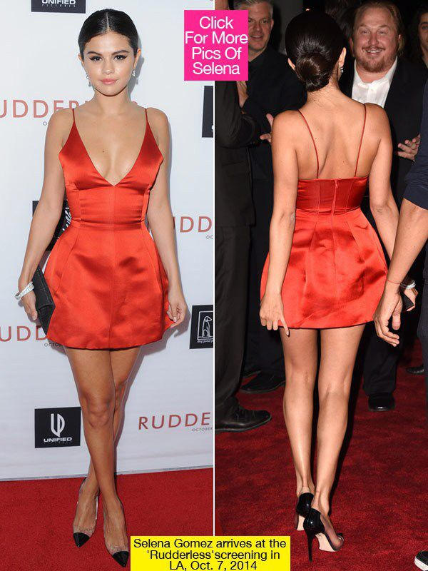 Selena Gomez Red Dior Dress