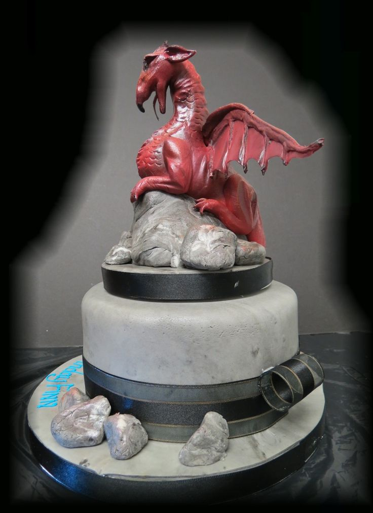 Dragon, modelled in sugar. Long Barn Bakery Ltd www.cakesbymary.co.uk