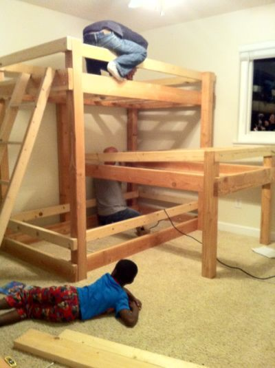 How To Build Triple Bunk Bed Plans Tracie Small Space Ideas