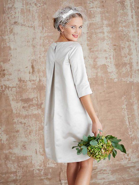 Burda tunic dress as a wedding gown. 106-032016-b-_back_large