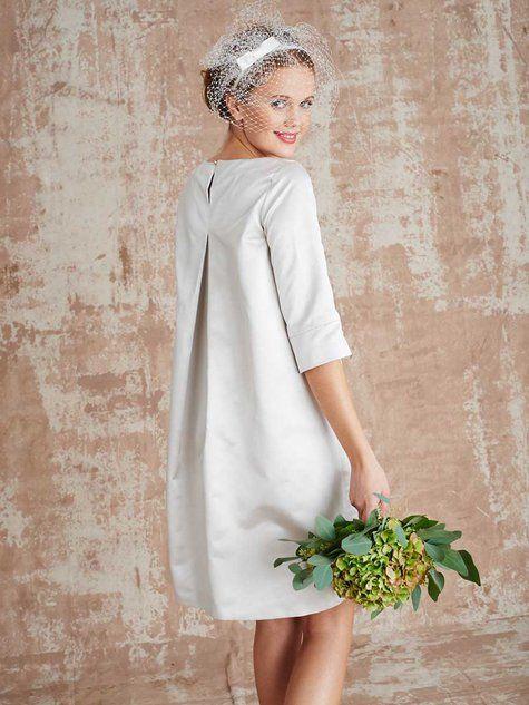 Burda tunic dress as a wedding gown. 106-032016-b-_back_large