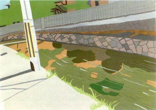 流れ1。2011年6月。OPAギャラリー「水景」展。