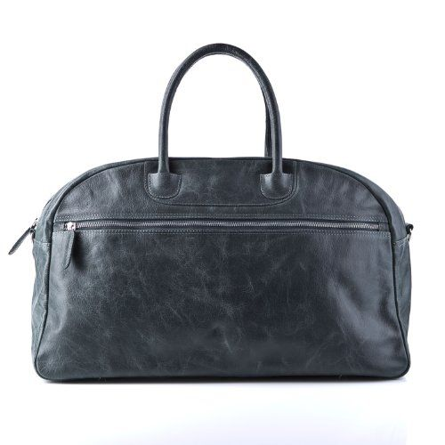 STOKED large travel bag COX - weekender duffel - grey leather STOKED