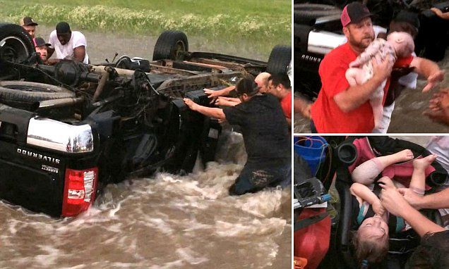 Incredible video shows the rescue of a Texas family #DailyMail \ These are some of the stories. See the rest @ http://www.twodaysnewstand.com/mail-onlinecom.html or Video's @ http://www.dailymail.co.uk/video/index.html Also here @ https://plus.google.com/collection/wz4UXB