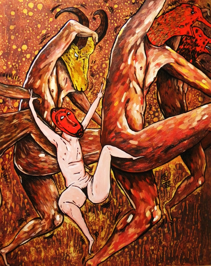 ROMEO, LUISA 'Dancing Hour' Dry point and oil paint on acetate Size: 80x66x10 $875