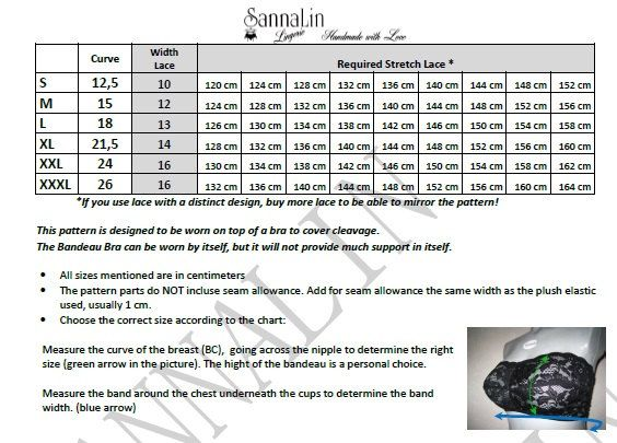 Sujetador bandeau con relleno de patrón descripción en por Sannalin