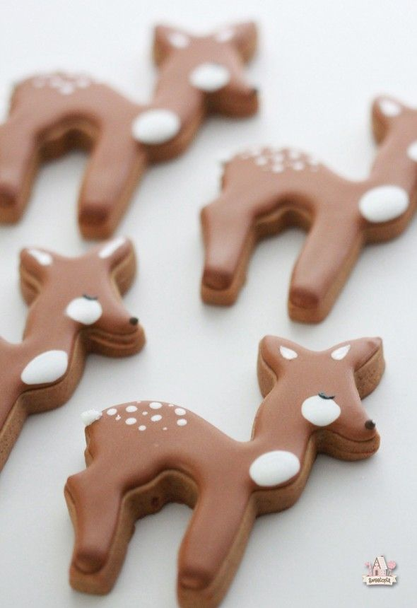 Deer; Woodland Decorated Cookies | Sweetopia