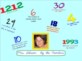 me by the numbers (first week activity with rubric)--adapt to a social studies (ie--city/state where born, state visited in the summer, year they were born and find a historical fact of that year, etc.)