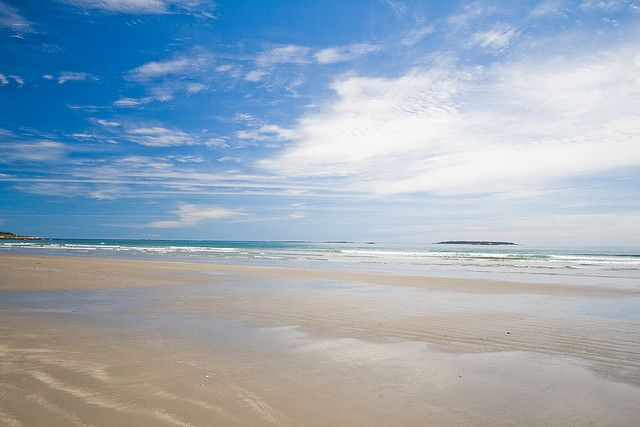 Beautiful Clam Harbour Beach is located on Nova Scotia's Eastern Shore and hosts an annual sandcastle competition.