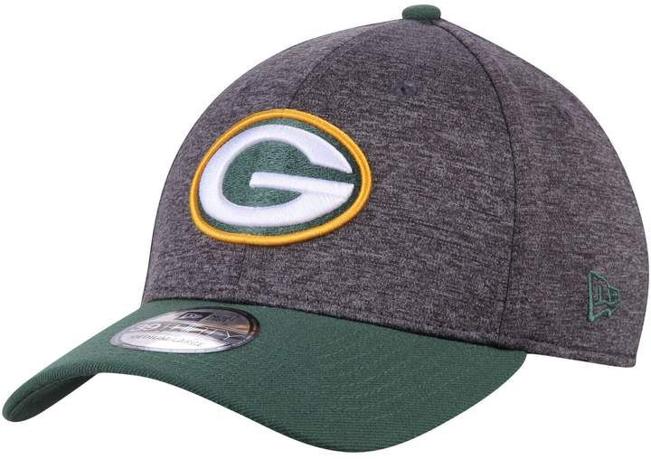 presenting free delivery best loved Men's New Era Heathered Gray/Green Green Bay Packers Shadow Tech ...