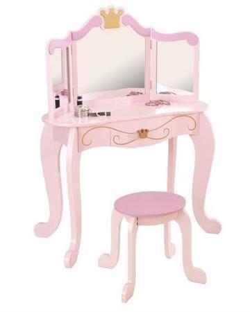 KidKraft Принцесса  — 27280р. ---------------------------------- Туалетный столик Принцесса KidKraft для девочек старше 3 лет. Зеркало украшено короной. есть выдвижной ящик для аксессуаров.