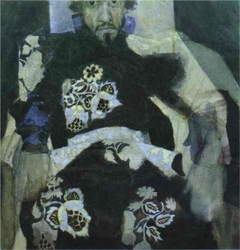 A Man in a Russian Old Style Costume - Mikhail Vrubel