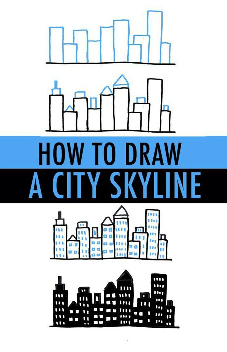 Draw a city skyline