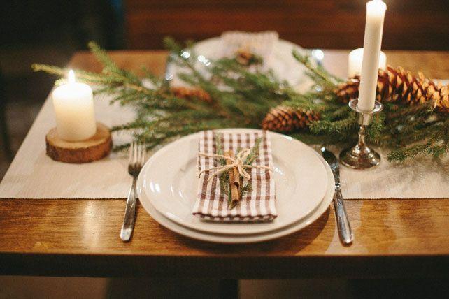 Новогодняя свадьба, сервировка стола - The-wedding.ru