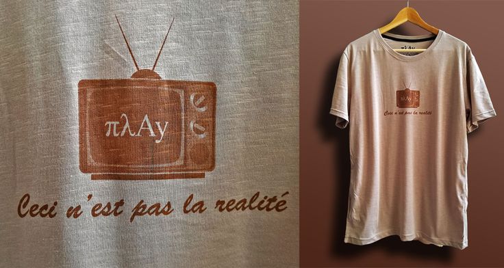 The great Rene Magritte is one of our favorite artists so we πλayed a little bit by making a new modern version of one of his most famous paintings #πλay #magritte #tshirt #television #surrealism #tv