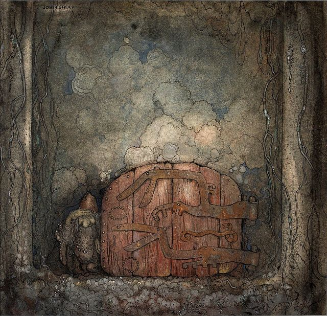 John Bauer, Swedish illustrator (1882-1918). Died at the age 35 along with his wife and son in a shipwreck upon their return to Sweden.: