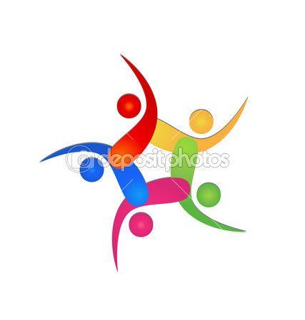 Teamwork swooshes logo — Stock Vector © Glopphy #25654329