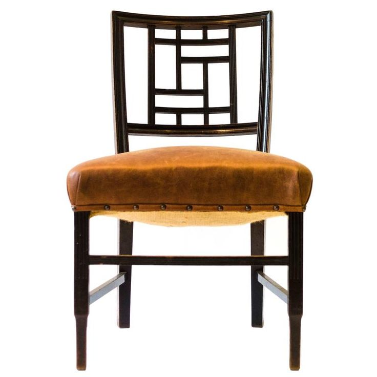 Anglo-Japanese Ebonized Side Chair, Attributed to Edward William Godwin | From a unique collection of antique and modern side chairs at https://www.1stdibs.com/furniture/seating/side-chairs/