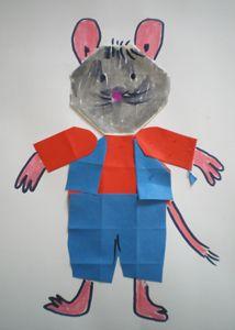 Rat, de vriend van kikker,: hoofd, lijf, jasje, broek gevouwen