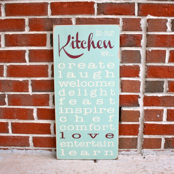 best 25 kitchen words ideas on pinterest wall decor for kitchen sign shop near me and living. Black Bedroom Furniture Sets. Home Design Ideas