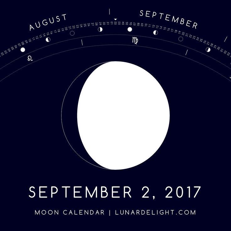 Saturday, September 2 @ 10:55 GMT  Waxing Gibboust - Illumination: 85%  Next Full Moon: Wednesday, September 6 @ 07:04 GMT Next New Moon: Wednesday, September 20 @ 05:30 GMT