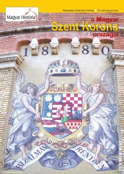 A Magyar Szent Korona országai hajtogatott térkép 100X70