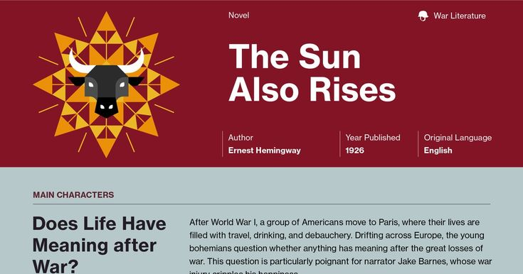 an analysis of ernest hemingways the sun also rises The sun also rises by ernest hemingway home / literature / the sun also rises / analysis the sun also rises is a somewhat nontraditional narrative.