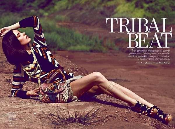 tribal fashion editorials   ... Editorials - From Striking Samurai Photoshoots to Saree Fashion