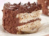 Tort de ciocolata cu blat alb