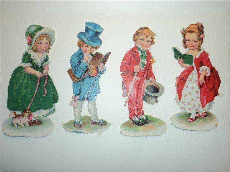 Supersöta äldre bokmärken barn damer & herrar :-) vintage !