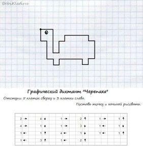 графический диктант Черепаха