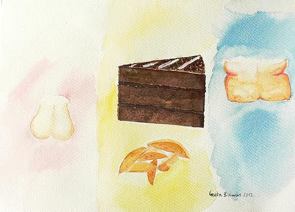 If you are smiling I have achieved the purpose ! This is the more appropriate before-after caution to be followed ...#before #after #humor #fitness #exercise #diet #cake #chips #chocolate #watercolor #art #drawing #painting #illustration #health #funny #thin #fat #artprint at $27