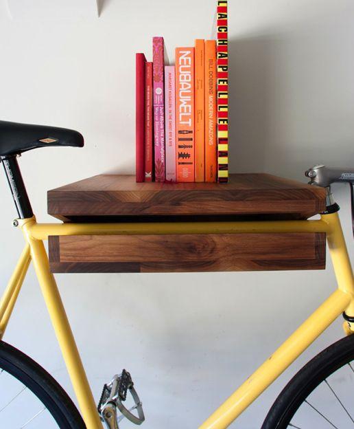 Functional Indoor Bike Storage Ideas Using Bookshelves: Amazing Indoor Bike Storage Ideas As Small Bookshelf ~ latricedesigns.com Home Interior Inspiration