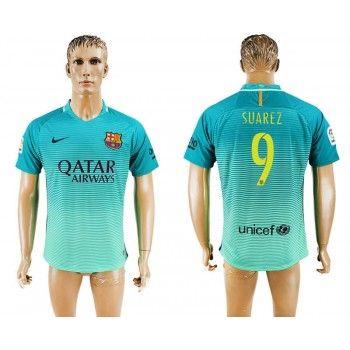 Barcelona 16-17 Luis Suarez 9 Tredje Tröja Kortärmad   #Billiga  #fotbollströjor