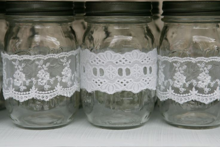 Idea: Wrap lace around mason jars to create a shabby chic look for your next party! #partyidea #shabbychic: Birthday Par Teas, Partyidea Shabbych, Party Idea, Tutu Party'S, Teas Party, 2Nd Birthday, Aubrie S 2Nd, Masons Jars, Chic Masons